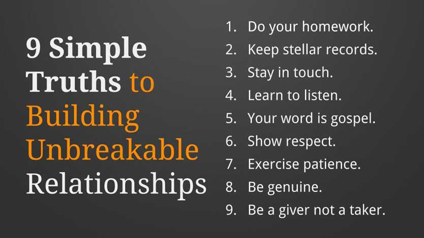 KEY #2 Summary on Relationship Building