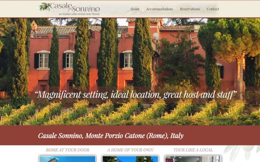 Website Samples by Online Marketing Muscle - Casale Sonnino