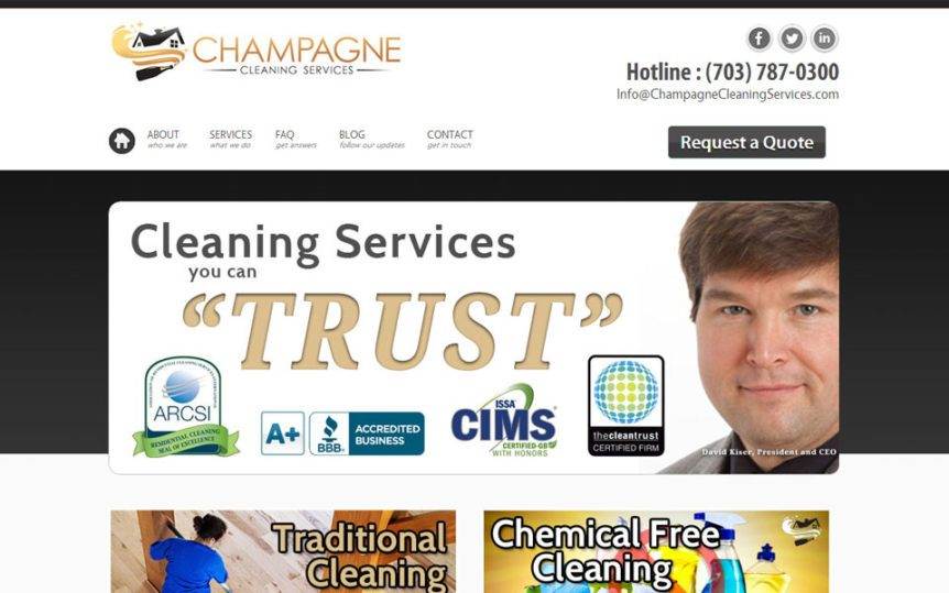 Website Samples by Online Marketing Muscle - Champagne Cleaning Services