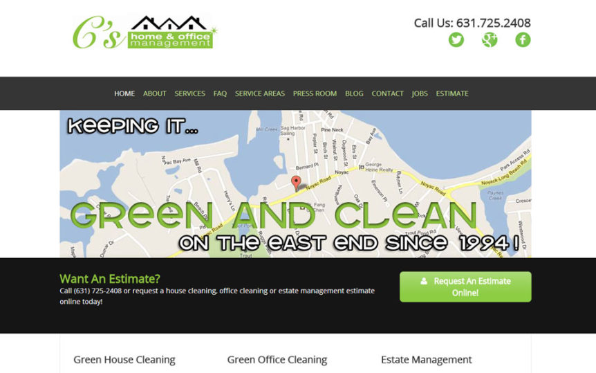 Website Samples by Online Marketing Muscle - C's Home & Office Management