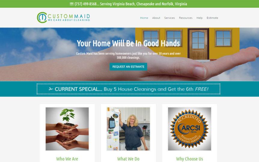 Website Samples by Online Marketing Muscle - Custom Maid
