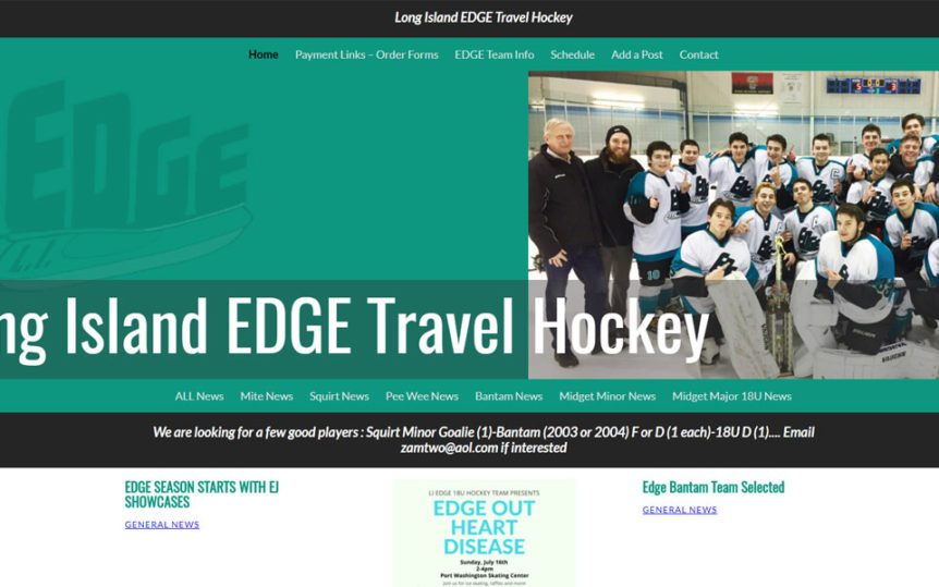 Website Samples by Online Marketing Muscle - LI Edge Travel Hockey