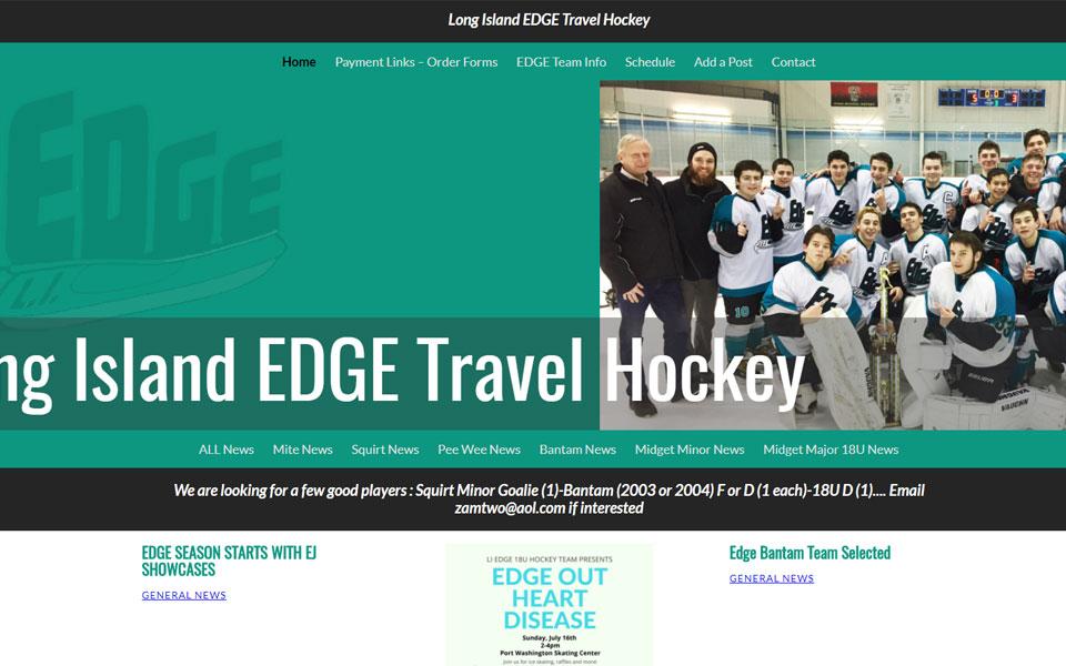 Website Samples by Online Marketing Muscle - LI Edge Travel Hockey