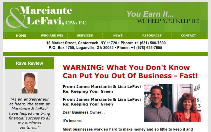 Website Samples by Online Marketing Muscle - Marciante & LeFavi