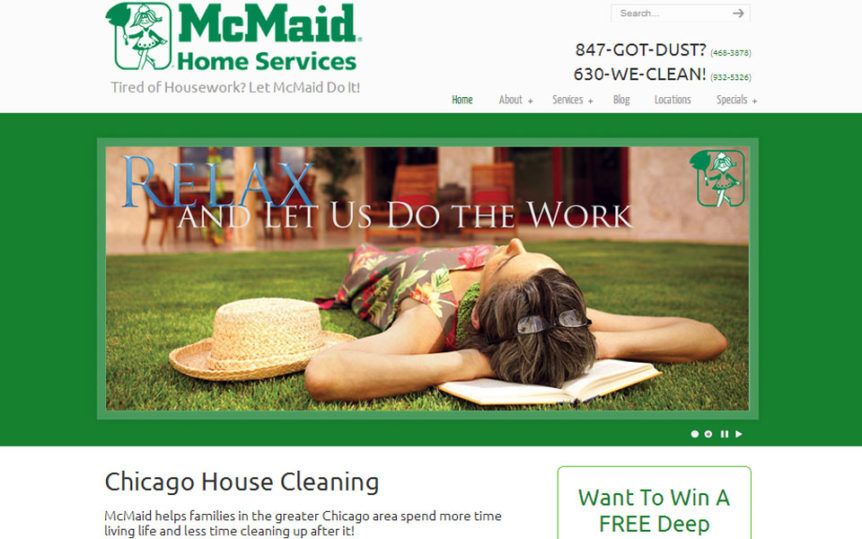 Website Samples by Online Marketing Muscle - McMaid Home Services