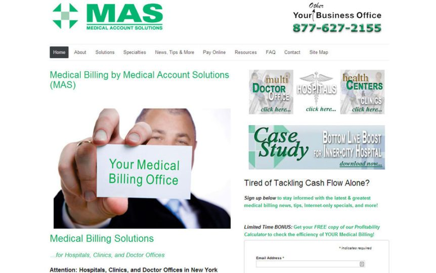 Website Samples by Online Marketing Muscle - Medical Account Solutions