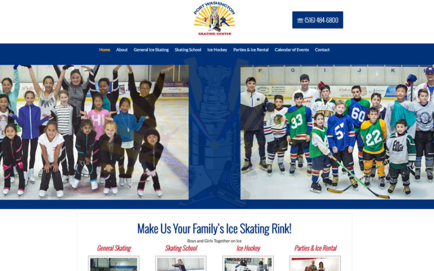 Website Samples - Port Washington Skating Center