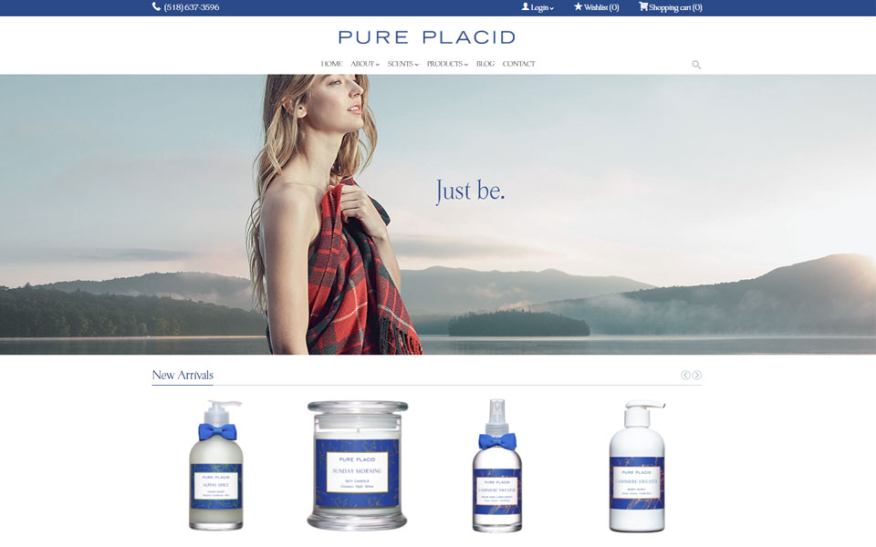 Website Samples by Online Marketing Muscle - Pure Placid