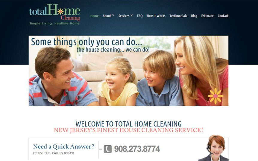 Website Samples by Online Marketing Muscle - Total Home Cleaning