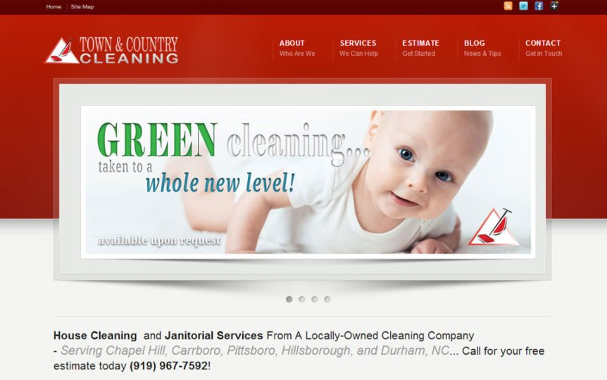 Website Samples by Online Marketing Muscle - Town & Country Cleaning