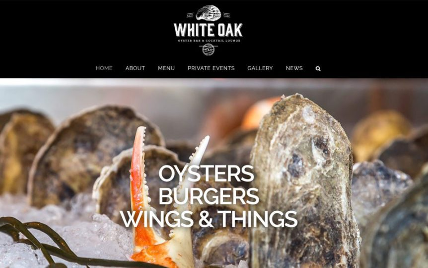 Website Samples by Online Marketing Muscle - White Oak Oyster Bar