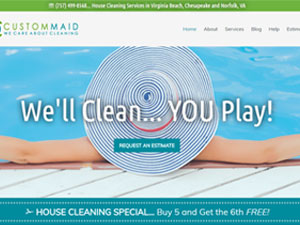 Website Samples by Online Marketing Muscle - Custom Maid